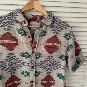 Pacsun On The Byas Aztec Shirt Size Small